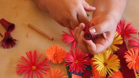 Fleurs de papier faites main Photo libre de droits