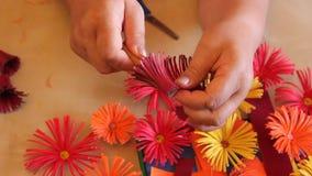 Fleurs de papier faites main quilling Images libres de droits