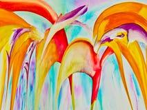 Fleurs de paradis abstraites Photographie stock