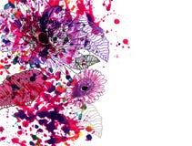 Fleurs de peinture illustration de vecteur