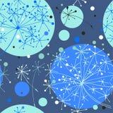 Fleurs de pissenlits avec des cercles tirés par la main illustration libre de droits