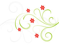 Fleurs de rouge d'élégance Image stock