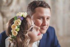 Fleurs de sentiment de mariage Images libres de droits