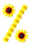 Fleurs de signe de pour cent Images libres de droits