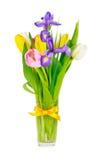 Fleurs de source dans un vase Photographie stock libre de droits
