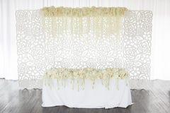 Fleurs de table de mariage Image libre de droits