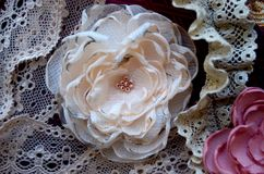 Fleurs de textile Photographie stock libre de droits