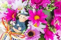 Fleurs de tissu Image libre de droits