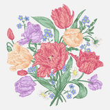 Fleurs de tulipes Photos libres de droits
