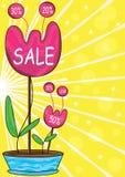 Fleurs de vente Photos stock