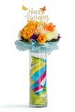 Fleurs en glace de vase Images libres de droits