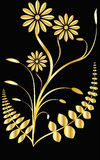 Fleurs en métal Photo stock