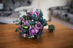 Fleurs en pastel de mariage Photos stock