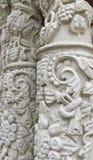 Fleurs en pierre antiques de plan rapproché Photographie stock libre de droits