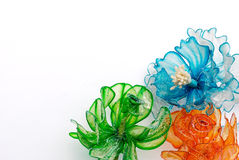 Fleurs en plastique photo stock