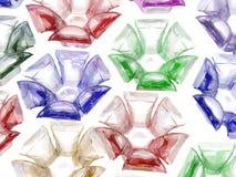 fleurs en verre colorées par 3d Illustration Libre de Droits