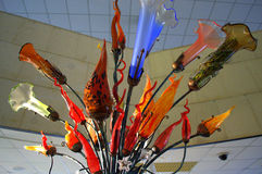 Fleurs en verre d'art Photographie stock libre de droits