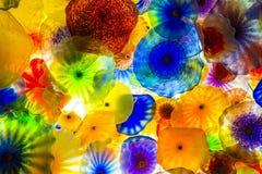 Fleurs en verre de Bellagio Image libre de droits