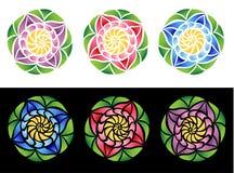 Fleurs en verre souillé Photographie stock