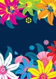 Fleurs et étang abstraits Feel_eps Image libre de droits