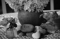 Fleurs et amour d'été Photo stock
