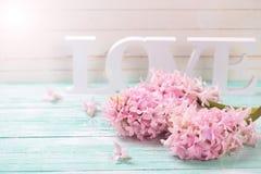 Fleurs et amour de mot Photographie stock