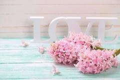 Fleurs et amour de mot Photo libre de droits