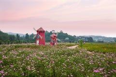 Fleurs et arbres de Chongqing Banan dans le jardin du monde complètement des montagnes en pleine floraison Gesang Hua dans le mou Photographie stock
