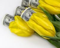 Fleurs et argent Photo stock