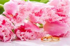 Fleurs et boucles Photo stock