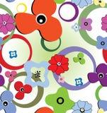Fleurs et boucles sans joint Image stock