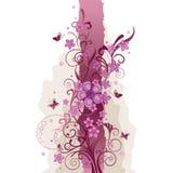 Fleurs et cadre roses de guindineaux Illustration de Vecteur