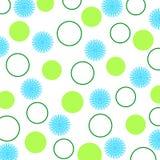 Fleurs et cercles Photographie stock libre de droits