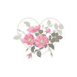 Fleurs et coeur illustration libre de droits
