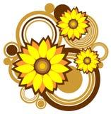 Fleurs et configuration abstraite Photos stock