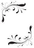 Fleurs et courbes abstraites illustration stock