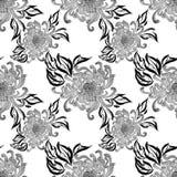 Fleurs et feuilles de chrysanthème Vecteur Fleurs d'automne Composition décorative Configuration sans joint Photographie stock