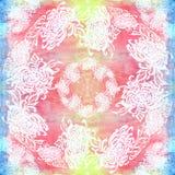 Fleurs et feuilles de chrysanthème Vecteur Fleurs d'automne Composition décorative Configuration sans joint Photo stock