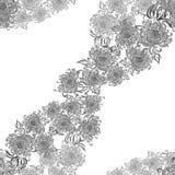 Fleurs et feuilles de chrysanthème Vecteur Fleurs d'automne Composition décorative Configuration sans joint Images stock