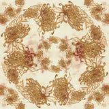 Fleurs et feuilles de chrysanthème Vecteur Fleurs d'automne Composition décorative Configuration sans joint Image libre de droits