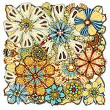 Fleurs et feuilles de griffonnage Image libre de droits