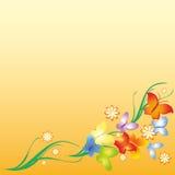 Fleurs et guindineau Photo stock