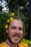 Fleurs et jardinage d'élagage d'homme Photographie stock