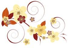 Fleurs et lames Photographie stock