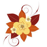 Fleurs et lames Photo libre de droits