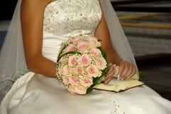 Fleurs et mariée Photographie stock