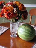 Fleurs et melon Photos libres de droits
