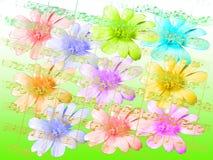 Fleurs et notes illustration stock