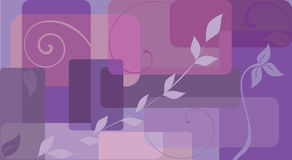 Fleurs et ondes Illustration de Vecteur