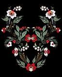 Fleurs et ornement courants de feuille patt oriental ou russe Photographie stock